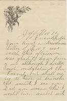 Willis Hubbard to Katherine Fletcher, [circa 1885] November 10