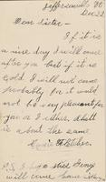 Carrie Fletcher to Katherine Fletcher, [1886] December 22