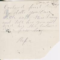 Andrew Craig Fletcher to Katherine Fletcher, [circa 1886 January 16]