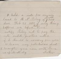 [Catherine Smith?] to [Henrietta Fletcher?], [not after 1886 February 26]