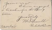 [M.S. Burnell?] to Katherine Fletcher, 1888 March 29