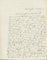 Letter to Mary N. Collamer, February 28, 1844