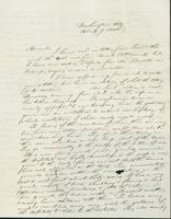 Letter to Harriet Johnson, April 7, 1844