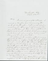 Letter to Mary N. Collamer, February 3, 1856