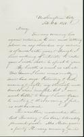 Letter to Mary N. Collamer, February 24, 1856