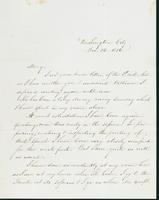 Letter to Mary N. Collamer, December 14, 1856