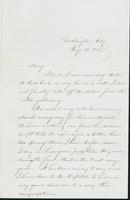 Letter to Mary N. Collamer, May 15, 1858