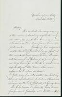 Letter to Mary N. Collamer, December 26, 1858