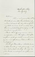 Letter to William Collamer, January 19, 1859