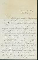 Letter to Mary N. Collamer, December 11, 1859