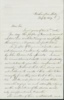 Letter to Mary N. Collamer, December 19, 1859