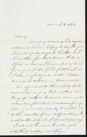 Letter to Mary N. Collamer, March 2, 1862