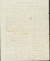 Letter to Doctor Eli Todd, January 30, 1820