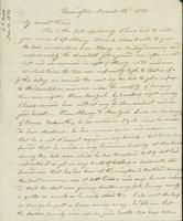 Letter to Eunice Todd Crafts, November 12, 1820