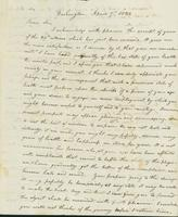 Letter to James A. Paddock, April 7, 1822