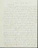 Letter to Nathan and Mary Hill, July 24, 1842