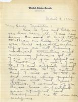 Letter to Mrs. C.G. (Ann) Austin, March 9, 1932