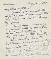 Letter to Mrs. C.G. (Ann) Austin, April  27, 1933