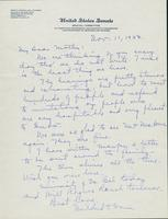 Letter to Mrs. C.G. (Ann) Austin, November  11, 1933
