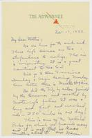 Letter to Mrs. C.G. (Ann) Austin, November  17, 1933