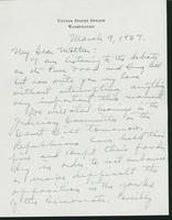 Letter to Mrs. C.G. (Ann) Austin, March 9, 1937
