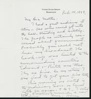 Letter to Mrs. C.G. (Ann) Austin, February 14, 1938