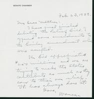 Letter to Mrs. C.G. (Ann) Austin, February 23, 1938