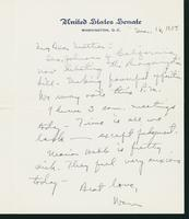 Letter to Mrs. C.G. (Ann) Austin, March 16, 1938