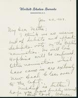 Letter to Mrs. C.G. (Ann) Austin, January 23, 1939