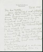 Letter to Mrs. C.G. (Ann) Austin, February 3, 1939