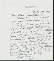 Letter to Mrs. C.G. (Ann) Austin, February 17, 1939