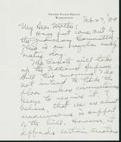 Letter to Mrs. C.G. (Ann) Austin, February 27, 1939