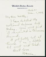 Letter to Mrs. C.G. (Ann) Austin, March 1, 1939