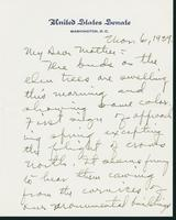 Letter to Mrs. C.G. (Ann) Austin, March 6, 1939