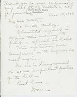 Letter to Mrs. C.G. (Ann) Austin, March 10, 1939