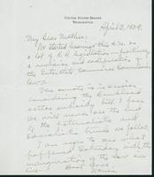 Letter to Mrs. C.G. (Ann) Austin, April 3, 1939