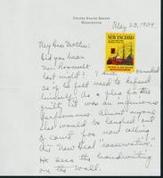 Letter to Mrs. C.G. (Ann) Austin, May 23, 1939