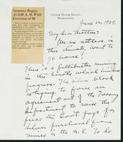 Letter to Mrs. C.G. (Ann) Austin, June 22, 1939