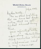 Letter to Mrs. C.G. (Ann) Austin, July 6, 1939