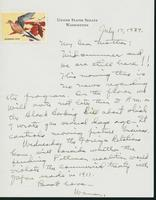Letter to Mrs. C.G. (Ann) Austin, July 17, 1939