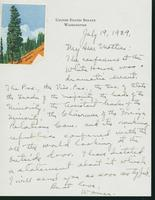 Letter to Mrs. C.G. (Ann) Austin, July 19, 1939