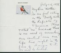 Letter to Mrs. C.G. (Ann) Austin, July 25, 1939