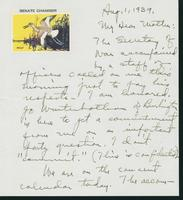 Letter to Mrs. C.G. (Ann) Austin, August 1, 1939