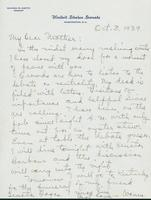 Letter to Mrs. C.G. (Ann) Austin, October 03, 1939