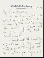Letter to Mrs. C.G. (Ann) Austin, October 11, 1939