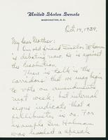 Letter to Mrs. C.G. (Ann) Austin, October 19, 1939