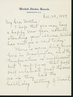 Letter to Mrs. C.G. (Ann) Austin, December 29, 1939