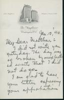 Letter to Mrs. C.G. (Ann) Austin, January 10, 1940