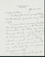 Letter to Mrs. C.G. (Ann) Austin, January 20, 1940