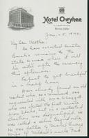 Letter to Mrs. C.G. (Ann) Austin, January 25, 1940